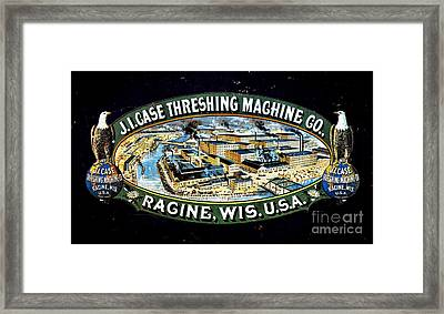 Case Threshing Machine Co Framed Print by Olivier Le Queinec