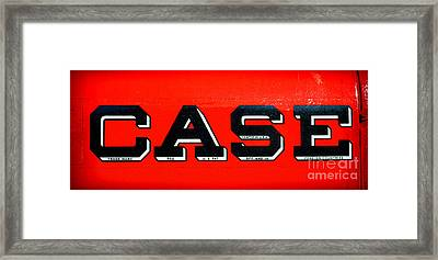 Case Tractor Nameplate Framed Print