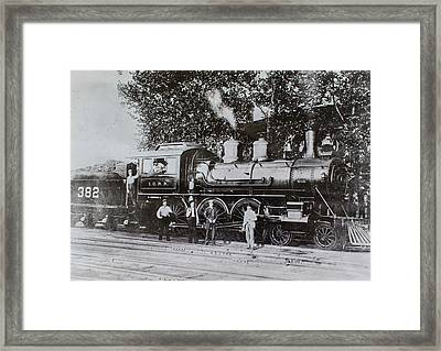 Framed Print featuring the photograph Casey Jones Engine  by Jeanne May