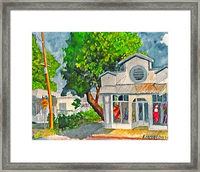 Framed Print featuring the painting Caseys Place by Eric Samuelson