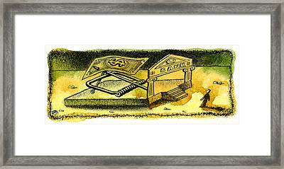 Cash Catch Framed Print by Leon Zernitsky