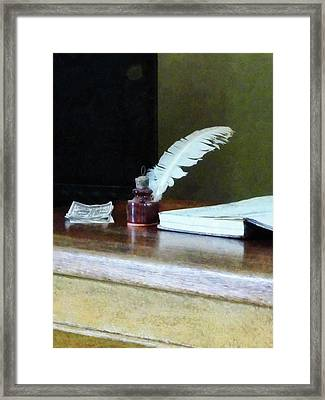 Cash Deposit Framed Print
