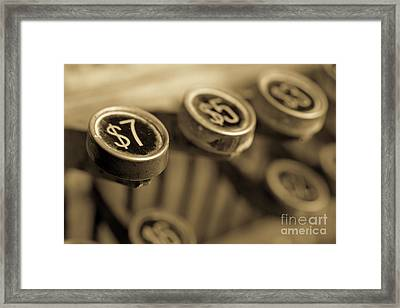 Cash Framed Print