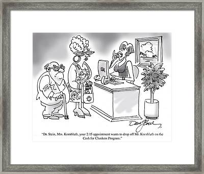Cash For Clunkers Framed Print by David Lloyd Glover