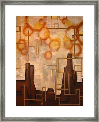 Cash Moves Everything Around Me Framed Print by Monica James