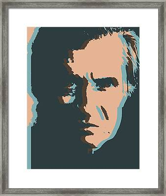 Cash Pop Art Poster Framed Print by Dan Sproul