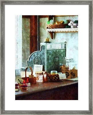 Framed Print featuring the photograph Cash Register In General Store by Susan Savad