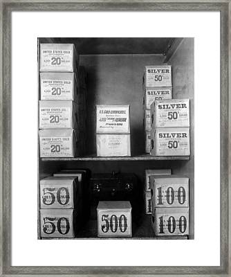 Cash Vault Of The United States Framed Print by Everett
