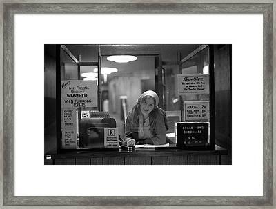 Cashier, Devon Theatre, 1979 Framed Print