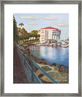 Casino In Avalon Framed Print by Nicolas Nomicos