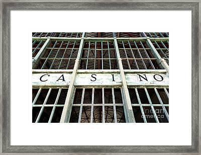 Casino Framed Print by John Rizzuto