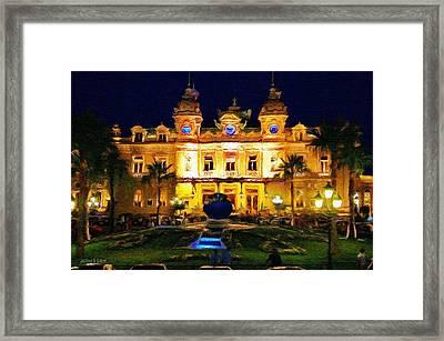 Casino Monte Carlo Framed Print by Jeff Kolker