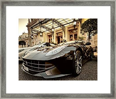 Casino Monte Carlo Vip Parking Framed Print