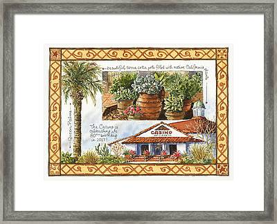 Casino San Clemente Framed Print