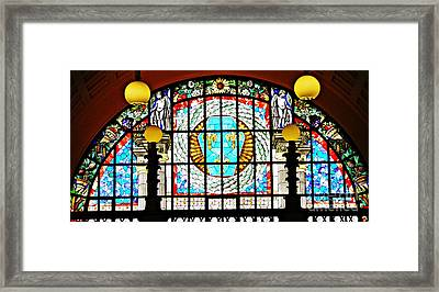 Casino Stained Glass Framed Print