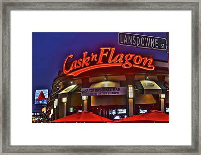 Cask And Flagon Citgo Sign Lansdowne Street Framed Print by Toby McGuire