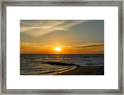 Caspersen Beach Sunset 1   -   Caspbch35 Framed Print