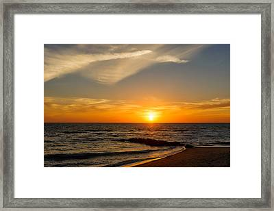 Caspersen Beach Sunset 2   -  Casbch45 Framed Print