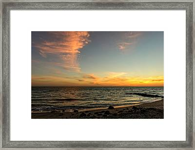 Caspersen Beach Sunset 3  -  Casbch65 Framed Print