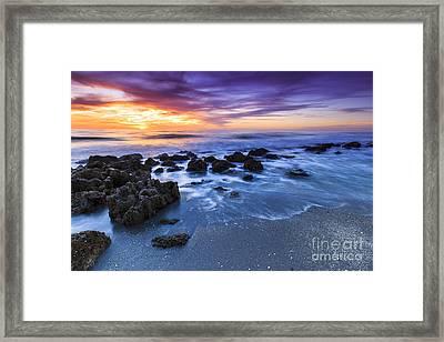 Casperson Beach Sunset 2 Framed Print