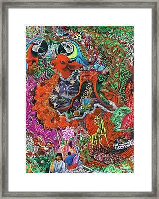 Caspi Shungo Framed Print by Pablo Amaringo