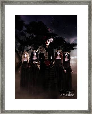 Framed Print featuring the digital art Casquette Brides by Shanina Conway