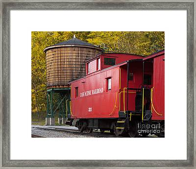 Cass Railroad Caboose Framed Print by Jerry Fornarotto