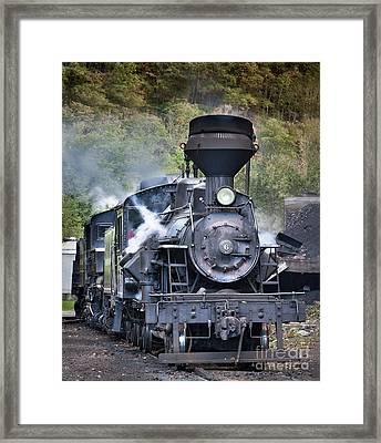 Cass Railroad Steam Engine 2 Framed Print by Jerry Fornarotto