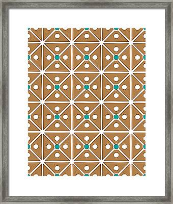 Cassette Brown Abstract Pattern Framed Print