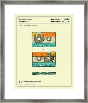 Cassette Tape 1991 Framed Print