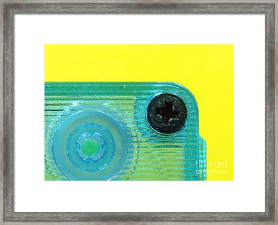 Cassette Tape Closeup Framed Print by Yali Shi