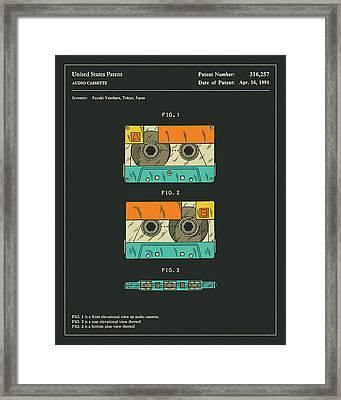Cassette Tape Patent 1991 Framed Print