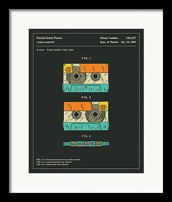 Cassettes Framed Prints