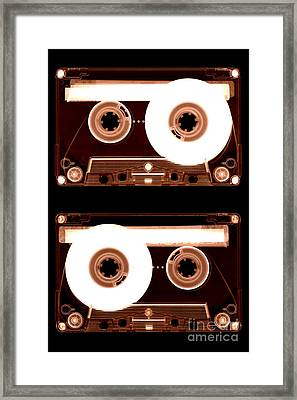 Cassette Tapes Framed Print