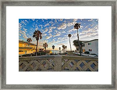 Cassidy Street Bridge Framed Print by Ann Patterson