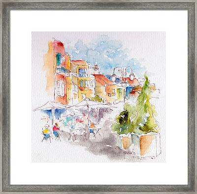 Cassis Along The Promenade Framed Print