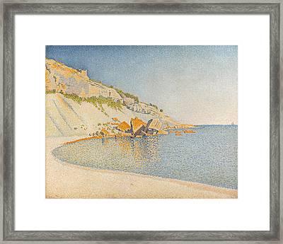 Cassis. Cap Lombard. Opus 196 Framed Print by Paul Signac