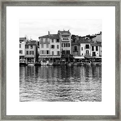 Cassis - French Seaside Town - Square Framed Print by Georgia Fowler