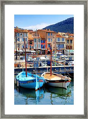 Framed Print featuring the photograph Cassis Harbor by Olivier Le Queinec