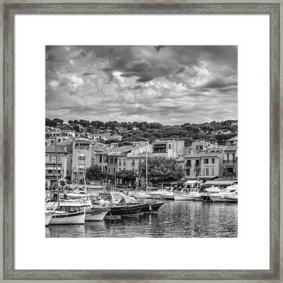 Cassis - South Of France - Square Framed Print by Georgia Fowler