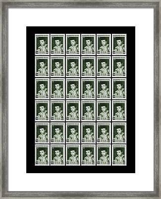 Cassius Clay World Champion Stamp Framed Print by Mark Rogan