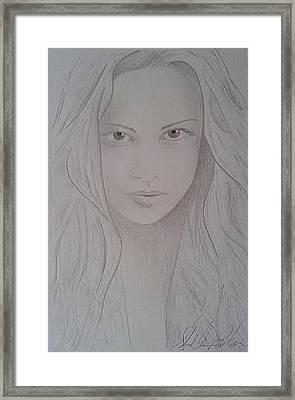 Cassy Blakemore  Framed Print by Sheila Renee Parker