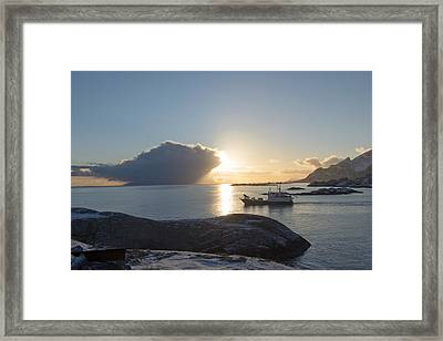 Cast A Giant Shadow... Reine Lofoten Framed Print