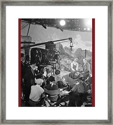 Cast And Crew The Petrified Forest Warner Brothers Soundstage Culver Ca 1936-2016 Framed Print