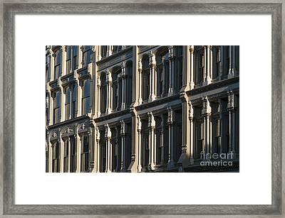 Cast Iron Facade - D009656 Framed Print by Daniel Dempster