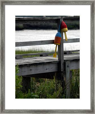 Castaway Bouys Framed Print by Mark Wiley