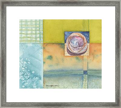 Framed Print featuring the painting Castaway by Casey Rasmussen White