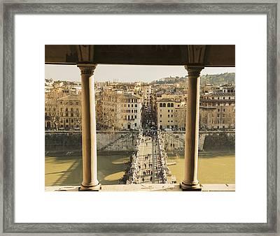 Castel Sant Angelo, Bridge Sant Angleo Framed Print by Mats Silvan