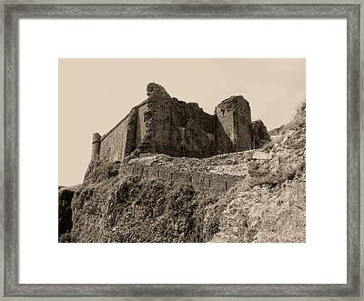Framed Print featuring the photograph Castell Carreg Cennen by Nigel Fletcher-Jones