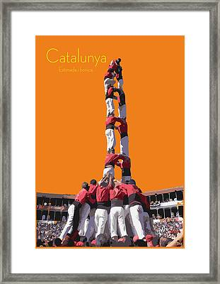 Castellers De Catalunya Framed Print